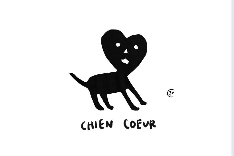 #chiencoeurdrawing